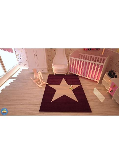 Poypoy Poypoy Süperstar Mor Beyaz Çocuk Halısı 100X150cm Renkli